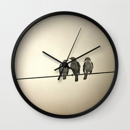 Three Little Birds Wall Clock