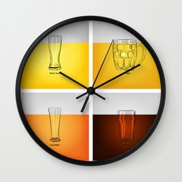 Golden Nectar Wall Clock