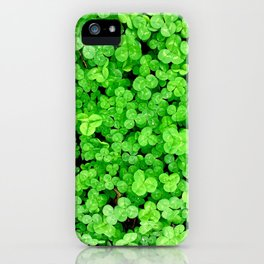 Rainy day clover iPhone Case