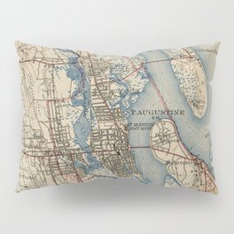 Vintage Map of St. Augustine Florida (1937) Pillow Sham