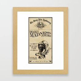 Scary Alice Apothecary - Mad Hatter Framed Art Print