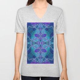 Inner Lantern Indigo Mandala Unisex V-Neck