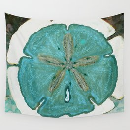 Sand Dollars Ocean Colors Wall Tapestry