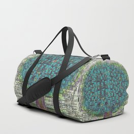 Tree Town - Magical Retro Futuristic Landscape Duffle Bag