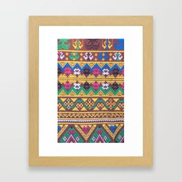 Hand Woven Thai Silk Pattern Framed Art Print