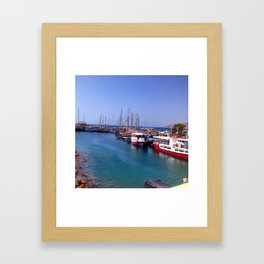 Israeli Dock Framed Art Print