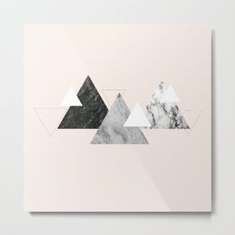 Marble mountains Metal Print