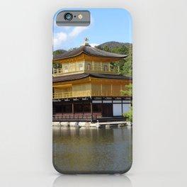 kinkakuji golden pavilion in kyoto japan iPhone Case