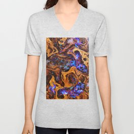 Boulder Opal Abstract Unisex V-Neck