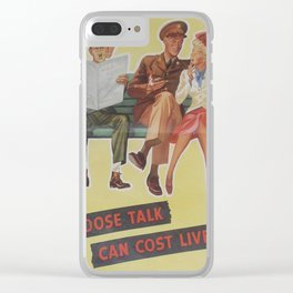 Vintage poster - Loose Talk Clear iPhone Case