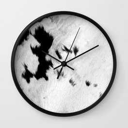 Cowhide Minimalistic Fur Texture Detail Wall Clock