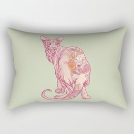 Skinny Cat Rectangular Pillow
