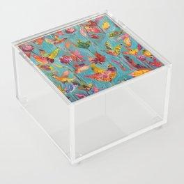 Garden In Aqua Acrylic Box