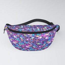 Sparkle Confetti Stars   Multi-color with Purple Tint   Fanny Pack