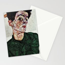 Egon Schiele - Self-Portrait with Chinese Lantern Plant Stationery Cards