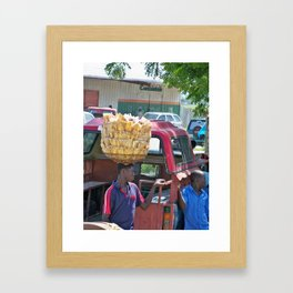 Plantains for Sale Framed Art Print