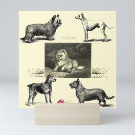 TERRIER DOG Illustration Mini Art Print