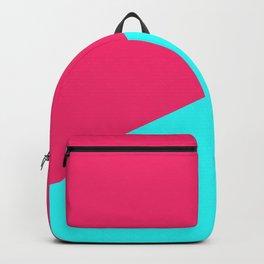 Blue , crimson , patchwork Backpack