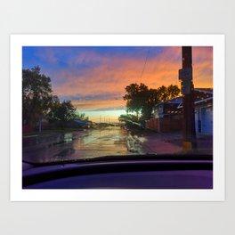 wet road view Art Print