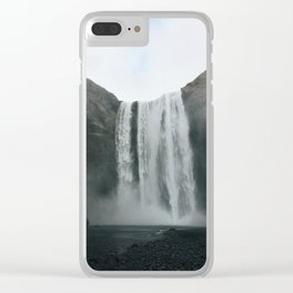 Skógafoss Falls Clear iPhone Case