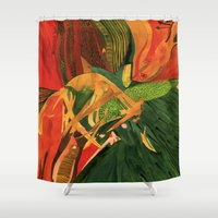 anxiety Shower Curtains featuring Anxiety by Nima