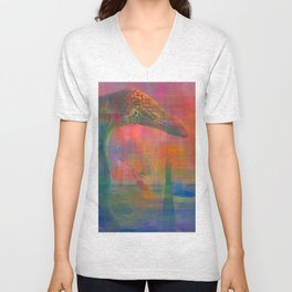 TIGERS, SNAKES AND QUIETGAMES, art piece about a psychedelic stoll through the ocean Unisex V-Neck