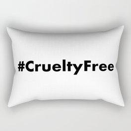 Hashtag Cruelty Free Rectangular Pillow