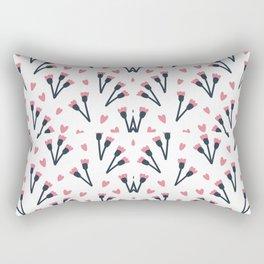Modern Lovely Flower Pattern Art Rectangular Pillow