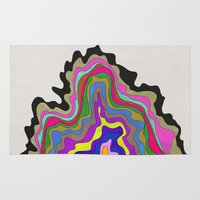 coasters Area & Throw Rugs featuring Color Wave by Georgiana Paraschiv