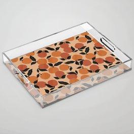 Seamless Citrus Pattern / Oranges Acrylic Tray