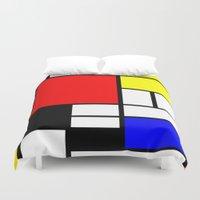 mondrian Duvet Covers featuring Mondrian by Fine2art