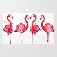 flamingo Area & Throw Rugs featuring Flamingo by Sam Nagel