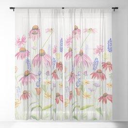 Meadow Flowers Sheer Curtain