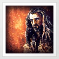 thorin Art Prints featuring Thorin by Shagliy