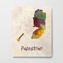 Palestine in watercolor Metal Print