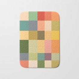 Vintage Checkered Pattern Bath Mat