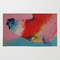 horse Area & Throw Rugs featuring Horse by Michael Creese