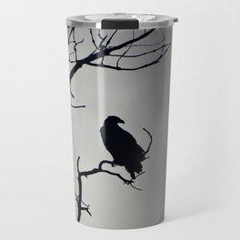 Young Bald Eagle Silhouette Travel Mug