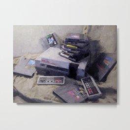 Retro Nature Morte : NES Metal Print