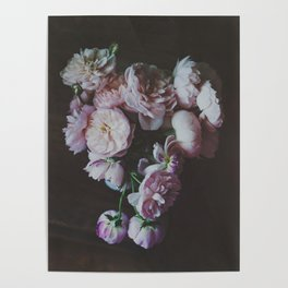 English Roses Still Life - Dark Number One Poster