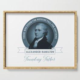 Alexander Hamilton Quote Serving Tray