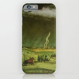 The Line Storm - Thunder and Lightning on the American Plains by John Steuart Curry iPhone Case
