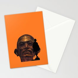 Gandhi - the walk - orange version Stationery Cards