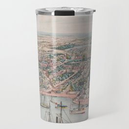 Vintage Pictorial Map of Annapolis MD (1864) Travel Mug