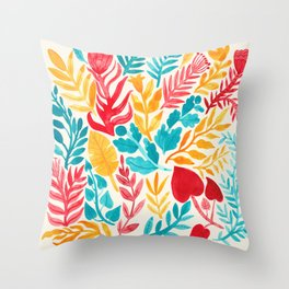 The Brightest Leaves Throw Pillow