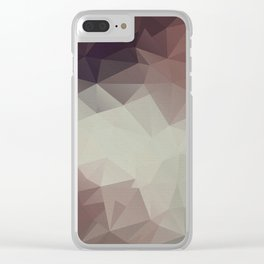 Gray brown abstract polygonal pattern triangles . Clear iPhone Case