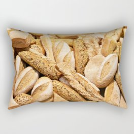 Bread baking rolls and croissants Rectangular Pillow