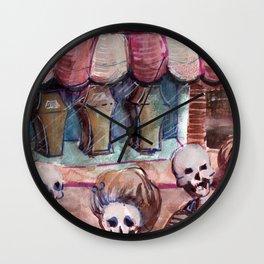 skull city Wall Clock