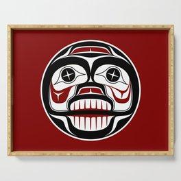Northwest Pacific coast Haida Weeping skull Serving Tray