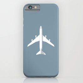 747-400 Jumbo Jet Airliner Aircraft - Slate iPhone Case
